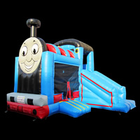 Train Inflatable Bounce Slide CombinationGB496