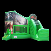 kids inflatable combo slide[GB337]