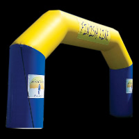 double color finish line inflatable archGA028