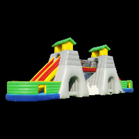two tunnels inflatable obstacleGE023