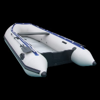 white inflatable floor boatGT063